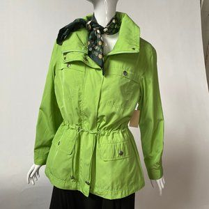 Coldwater Creek Petite Lime Green Anorak NWT